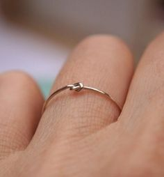 I would love a wedding ring like this. Super simple, but really pretty.