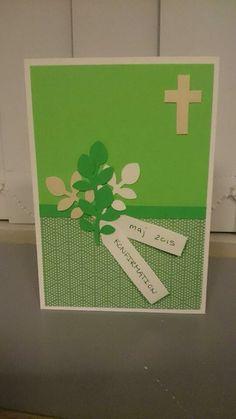 Konfirmation, kort, grøn