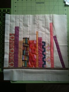 How to piece a bookshelf quilt