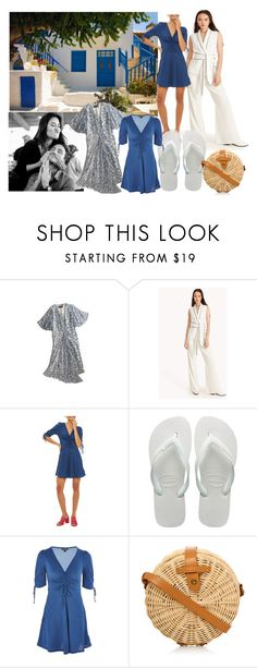 """""""I Love You To The Beach And Back!"""" by farrahdyna ❤ liked on Polyvore featuring Vous Etes, Topshop Unique, Harlot, Topshop and Havaianas"""