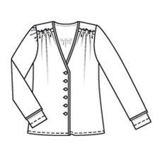Блузка - выкройка № 117 из журнала 9/2009 Burda – выкройки блузок на Burdastyle.ru