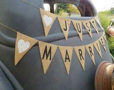banderines de tela : lienzo, arpillera, encaje:eventos-bodas