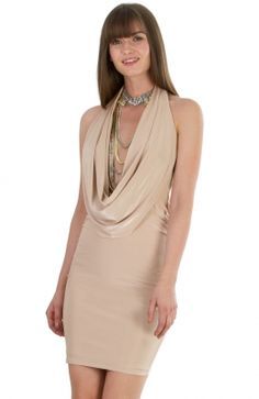 DR573A_front Cowl Neck, Prom, Formal Dresses, Mini, Fashion, Senior Prom, Dresses For Formal, Moda, Formal Gowns