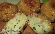 Virslis-krumplis golyók recept fotóval