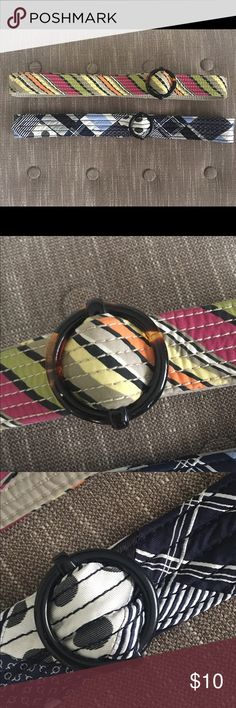 Pair of j crew fabric belts preppycute j crew fabric belts.  Both in excellent condition worn a few times at best.  Size m/l  - are 44 inches long.  Looks so cute with white jeans/capris or shorts!!! J. Crew Accessories Belts