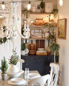lovely nook in this country style #diningroom nicchia in una sala da pranzo stile country
