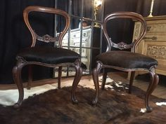 Victorian Dining Chairs, Antique Chairs For Sale, Antique Furniture, The Bedford, Wow Factor, Cow Hide, Wow Products, Dark Wood, Balloons