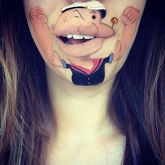 Makeup Artist Turns Her Lips Into Cartoon Characters