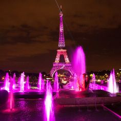 """""""The #EiffelTower was lit up in rosy pink lights on Sept. 28 to symbolize support for Breast Cancer Awareness Month, as well as the Pink October campaign.…"""""""