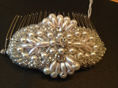 Art Deco comb with pearls www.lhgdesigns.co.uk