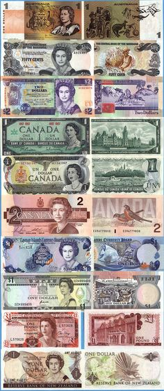 World banknotes and paper money, countries A-F Money Notes, Money Worksheets, Canadian Coins, Old Money, Cash Money, Money Talks, World Coins, Rare Coins, Coin Collecting