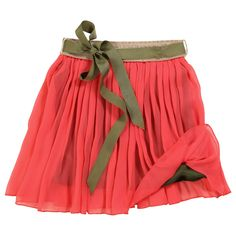 coral-pink scotch & soda girls skirt~