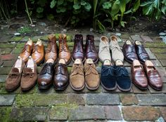 fromsqualortoballer:  Top: Vass, Charles Tyrwhitt, Alden, Allen Edmonds, Alden Bottom: Carmina, Ralph Lauren, Alden, Alden, Peal & Co. for BB.