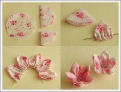 COKO BROCHES: Flor de Tela...Tutorial