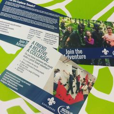 Another recent design and print job for the local Explorer Scouts.  Two different postcard designs one of them double sided.  One of the many flyer jobs we have done in the last couple of weeks. If your business or organisation is looking for any promotional material business cards stationery or banners get in touch!