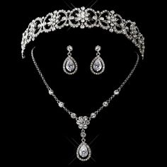 Vintage Inspired Headpiece and Wedding Jewelry Set - beautiful accessories for your vintage inspired wedding!