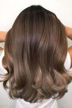 The best hair color ideas for brunette, color # ideas - Haarfarben Ideen - Hair Color Hair Color Highlights, Ombre Hair Color, Hair Color Balayage, Cool Hair Color, Honey Highlights, Balayage Highlights, Brunette Highlights, Haircolor, Short Balayage