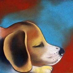 Бигль — купить на Ярмарке Мастеров с доставкой Beagle Art, Daydream, Dogs, Animals, Painting, Animales, Animaux, Doggies, Painting Art