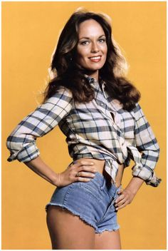Catherine Bach as the original Daisy Duke from the 1980s hit TV show The Dukes Of Hazzard.