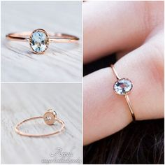 Oval aquamarine engagement ring handcrafted in 18k rose gold by Arpelc  #aquamarinering #engagementring #uniqueengagement #handcraftedjewelry #goldjewelry #rosegold #rosegoldjewelry #arpelc