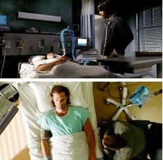 [SET OF GIFS] 2x01 In My Time of Dying & 9x01 I Think I'm Gonna Like It Here