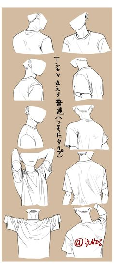 Drawing Body Poses, Shirt Drawing, Drawing Men Face, Drawing Face Shapes, Drawing Hair, Gesture Drawing, Drawing Anime Clothes, Clothes Design Drawing, Drawings Of Clothes