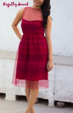This gorgeous red dress had been made from old dupattas! It is a part of our Recycled Clothes initiative.