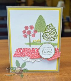 Stampin' Up! Totally Trees for Spring #SUthailand #stampinup #thailandachieversbloghop