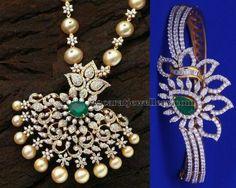 Latest Collection of best Indian Jewellery Designs. Jade Jewelry, Emerald Jewelry, Pendant Jewelry, Diamond Jewelry, Diamond Bangle, Diamond Necklace Set, Diamond Pendant, Gold Necklace, Indian Wedding Jewelry