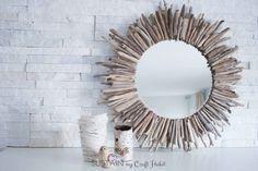 Deko Ideen: Spiegelrahmen aus Treibholz basteln