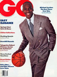 The GQ Cover March 1989 ~ Michael Jordan: The Best There Ever Was. Could have done more for social justice remember Jim Brown with Ali.