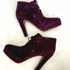Rag & Bone Plum Purple Suede Booties THE booties to have! These are in good shape; the uppers don't have any scuffs or scratches, the bottoms show some wear. Perfect with denim or your favorite boho looks! rag & bone Shoes Ankle Boots & Booties