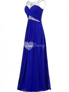 Natural Waist Beading Ruching Chiffon Floor-length Delicate Prom Dress