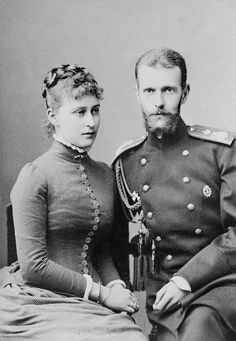 """romanovdreams: """" Princess Elisabeth of Hesse and Grand Duke Sergei Alexandrovich in 1884, the year of their marriage. """""""