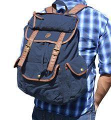 Canvas Daypack  Backpack - Dark Blue