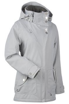 NILS Kim ski/snow jacket in Silver Medal. Longer length-super flattering!