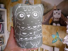 Fidji  Owl  soft art  creature  toy by  by wassupbrothers on Etsy