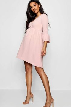 adafbcef71a Maternity Kate Crepe Ruffle Smock Dress