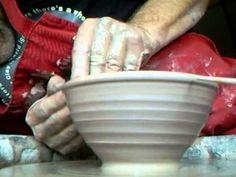 SIMON LEACH POTTERY ~ Throwing GP bowls - close up angle !