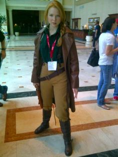 """Actress Molly Quinn (who plays the character """"Alexis"""" on ABC's """"Castle"""" cosplaying as Captain Malcolm Reynold's at Comic-Con 2012. My day is freaking MADE!"""