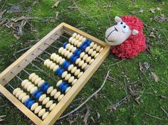 Wooden abacus home decor office educational toy industrial decor motor skills…