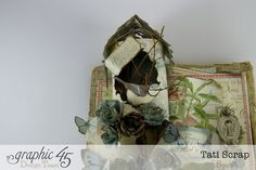 Love the birdhouse on Tati Scrap's Botanical Tea wall hanging #graphic45