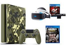 PlayStation 4 Slim Call of Duty WWII Bundle (2 Items): PS4 Slim 1TB Limited Edition Console - Call of Duty WWII Bundle and PlayStation VR - Gran Turismo Sport Bundle