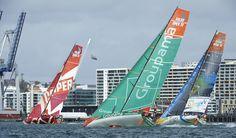 Telefonica, Camper & Groupama 4 / In-Port Auckland / Volvo Ocean Race
