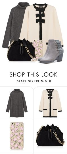 """Winter but dress."" by fangirl-preferences ❤ liked on Polyvore featuring Boutique Moschino, Karen Millen and Rotary"