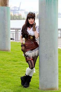 Pillars by C-h-l-0-e.★ We recommend Gift Shop: http://gosstudio.com ★ #Steampunk #Girls #Woman #Gosstudio #Lady #SteampunkFashion