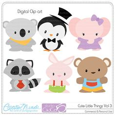 Cute Little Things vol 3 Digital Clip Art   by StudioCinCo on Etsy, $4.95