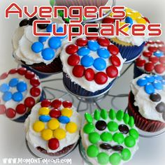 Mom On Timeout: The Avengers Cupcakes (The Incredible Hulk, Captain America, Iron Man, Thor)