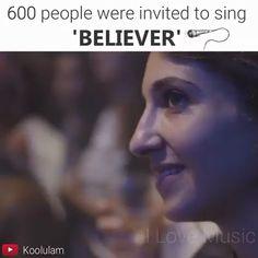 600 People Invited to Sing Believer - Humor - Mood Songs, Music Mood, Kari Jobe, Cute Songs, Sara Bareilles, Music Sing, Florence Welch, Pentatonix, Beautiful Voice