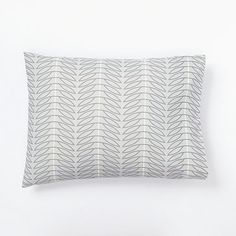 Organic Seedling Sham #westelm - great idea for machine quilting pattern